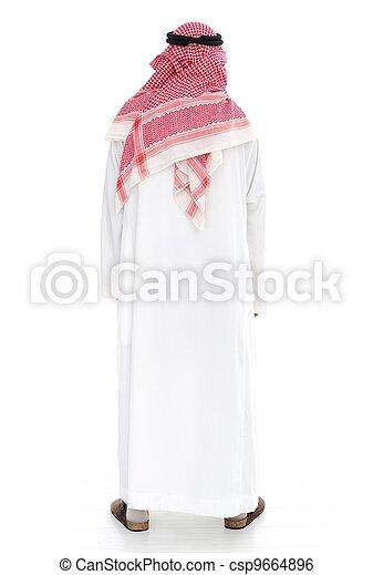 Arabic man standing - csp9664896