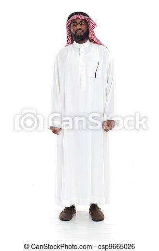 Arabic man standing - csp9665026