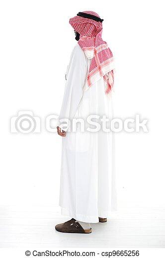 Arabic man standing - csp9665256