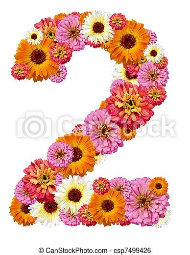 arabic numeral, two - csp7499426