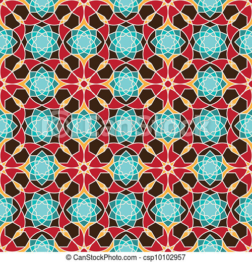 Arabic seamless pattern - csp10102957