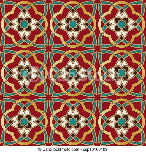 Arabic seamless pattern - csp10100189