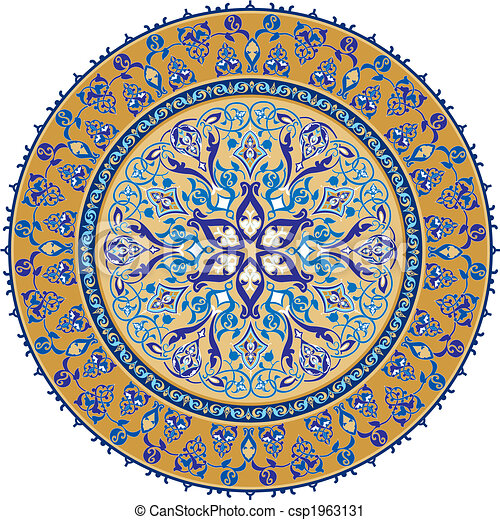 arabische , ornament, klassiek - csp1963131