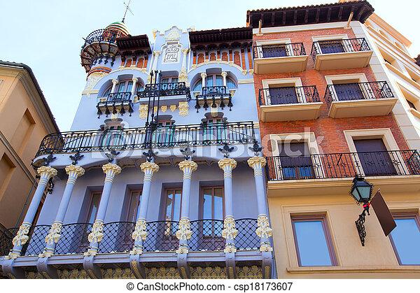 Aragon Teruel El Torico modernist building in Spain - csp18173607