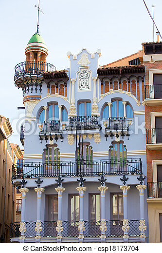 Aragon Teruel El Torico modernist building in Spain - csp18173704