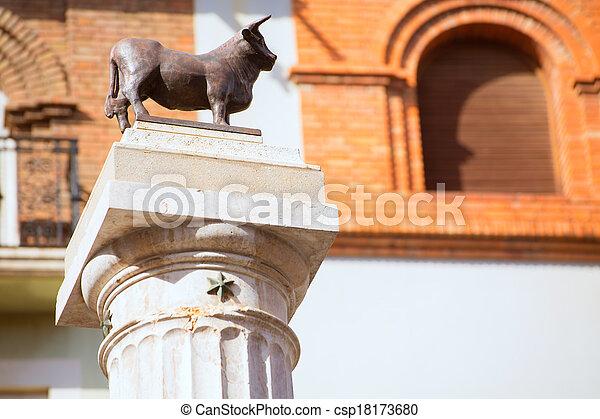 Aragon Teruel El Torico statue Plaza Carlos Castel Spain - csp18173680