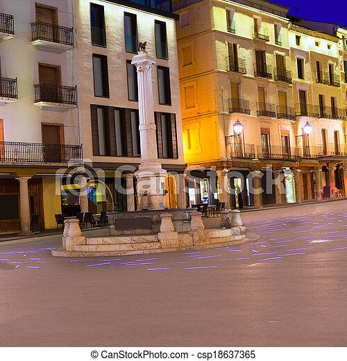 Aragon Teruel plaza el Torico Carlos Castel square Spain - csp18637365