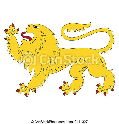 araldico, leone - csp13411327