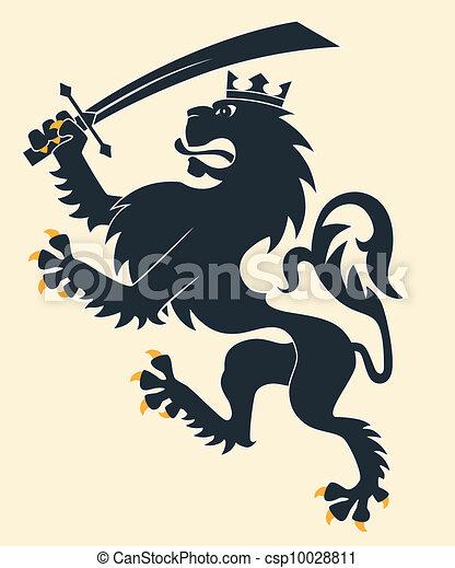 araldico, leone - csp10028811