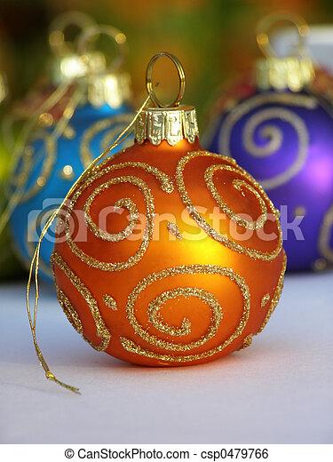 arancia, bauble natale - csp0479766
