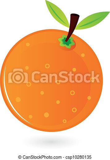 arancia, bianco, frutta, isolato - csp10280135