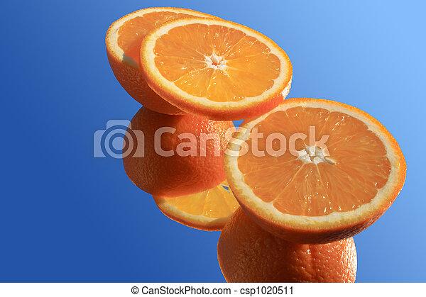 arancia, blu - csp1020511