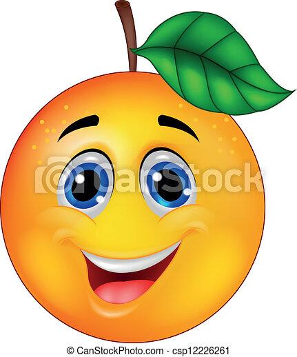 arancia, carattere, cartone animato - csp12226261
