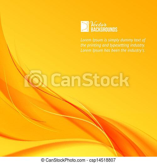 arancia, fondo., fumo, giallo - csp14518807