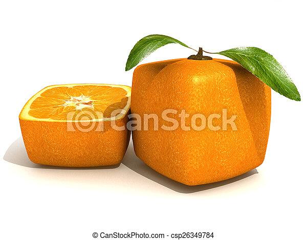 arancia, freschezza, cubico - csp26349784