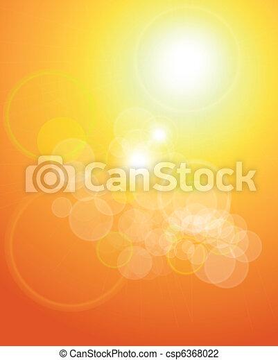 arancia, luci, astratto, fondo - csp6368022