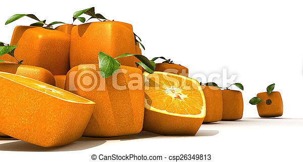 arancia, mucchio, cubico - csp26349813