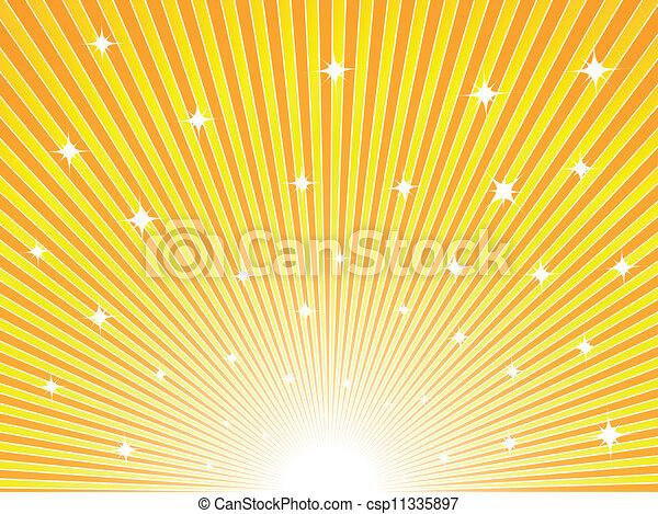 arancia, soleggiato, sfondo giallo - csp11335897