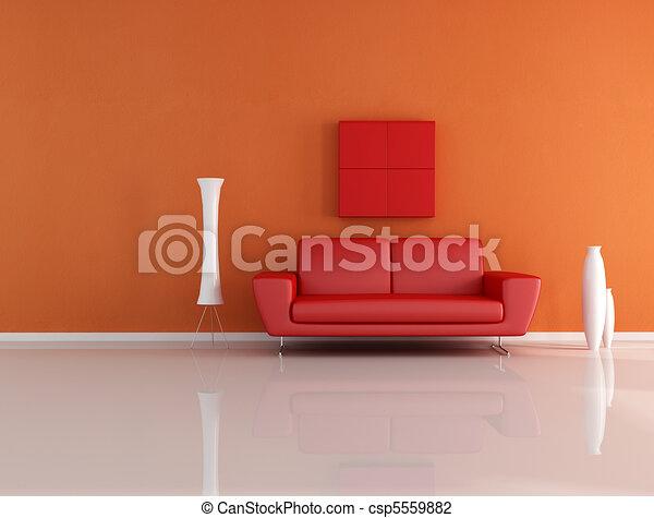arancia, stanza, rosso, amare - csp5559882