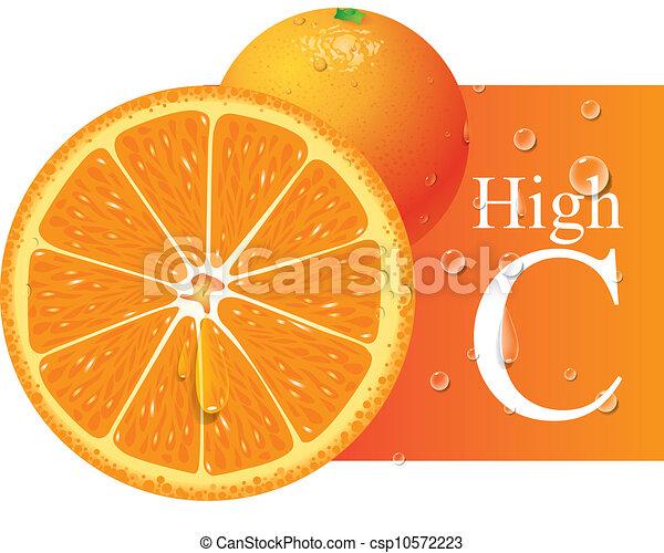 arancia, vettore - csp10572223