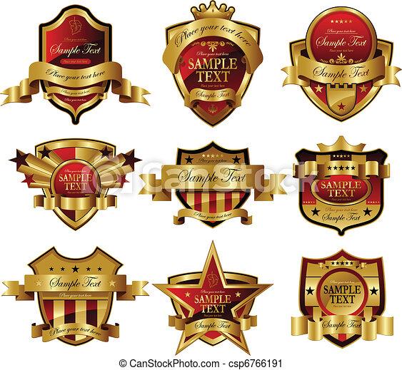 arany-, keret - csp6766191