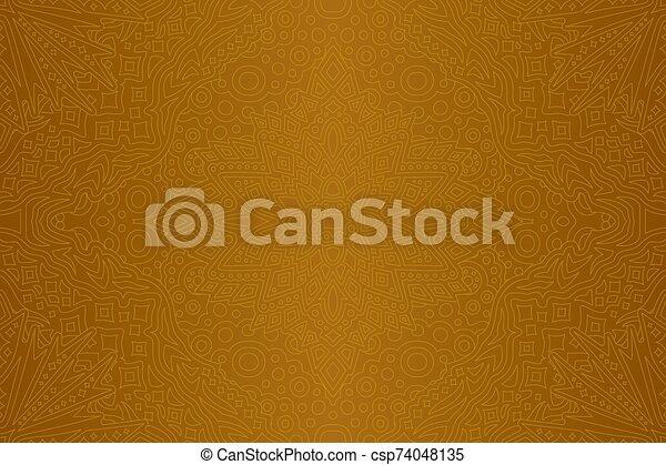 arany-, lineáris, művészet, seamless, motívum, elvont - csp74048135