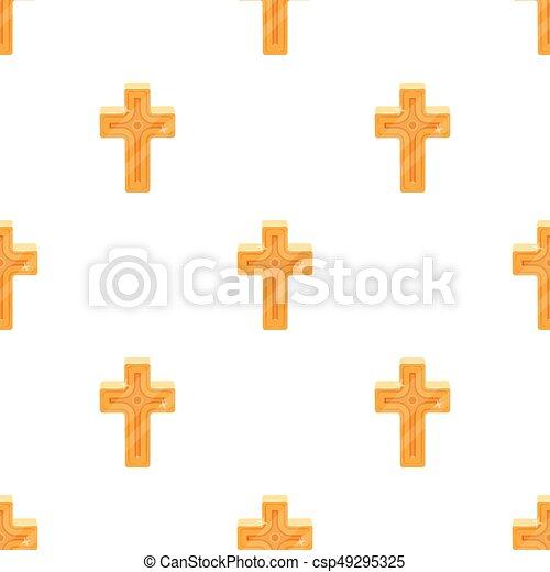 arany-, mód, illustration., jelkép, cross., egyedülálló, vektor, ikon, húsvét, karikatúra, részvény - csp49295325