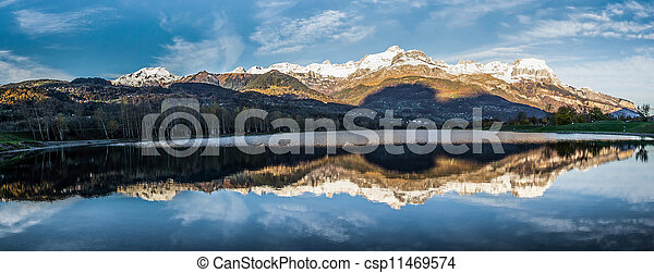 Aravis Mountain Range, France - csp11469574