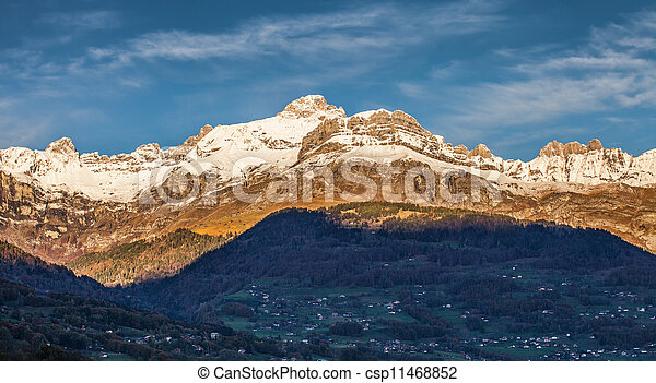 Aravis Mountain Range, France - csp11468852