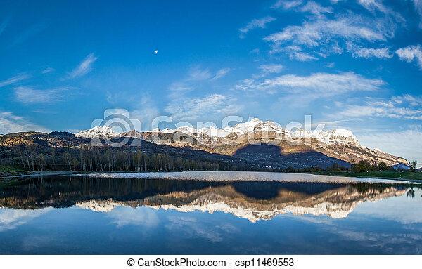 Aravis Mountain Range, France - csp11469553