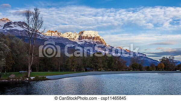 Aravis Mountain Range, France - csp11465845