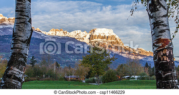 Aravis Mountain Range, France - csp11466229