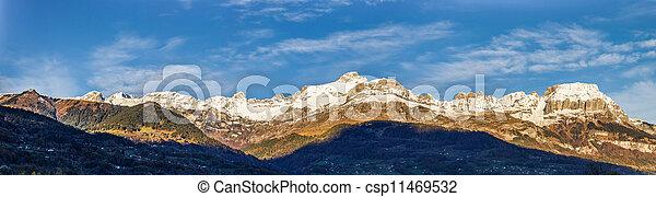 Aravis Mountain Range, France - csp11469532