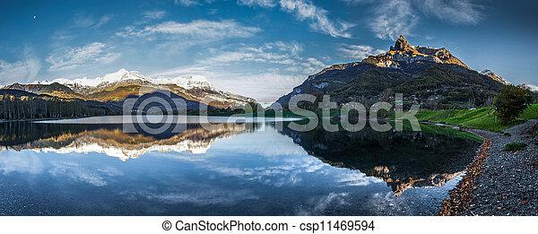Aravis Range and Augille du Varan - csp11469594