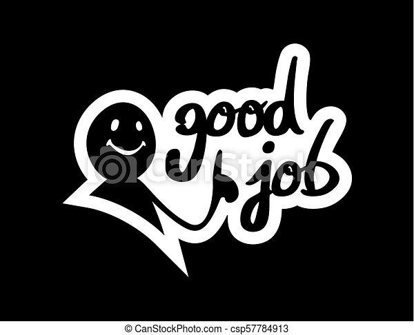 Schwarze gute Nachricht - csp57784913