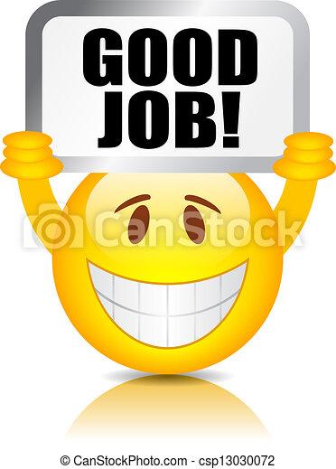 Gut gemacht, Smiley - csp13030072