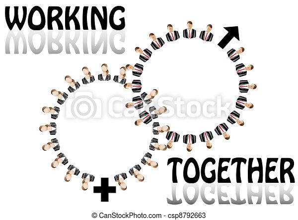 arbeitend zusammen - csp8792663