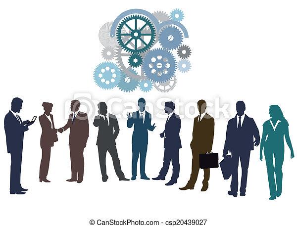 Zusammen arbeiten - csp20439027