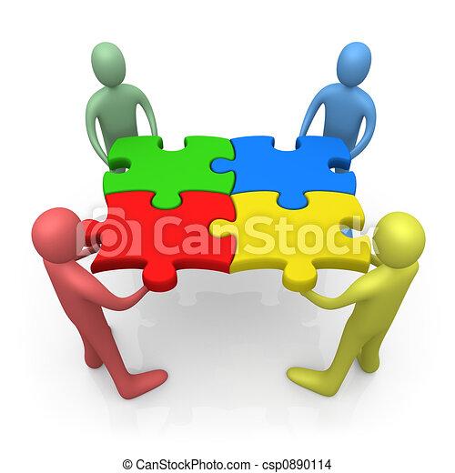 arbeitend zusammen - csp0890114
