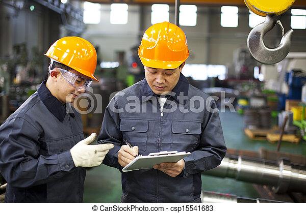 arbeiter, fabrik - csp15541683