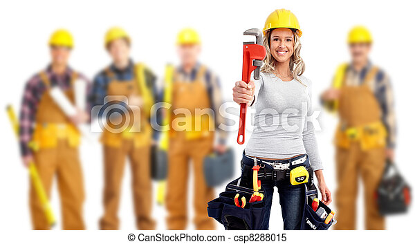 arbeiter, industrie, group. - csp8288015