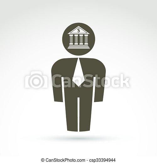 Arbeiter, symbol., kragen, vektor, begrifflich, weißes, ikone ...