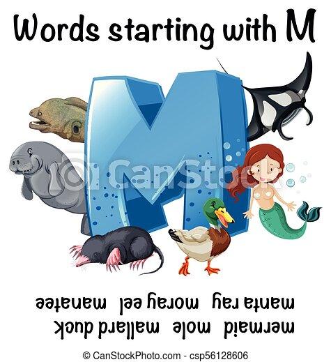 Arbeitsblatt, m, beginnen, wörter, englisches . Arbeitsblatt, m ...