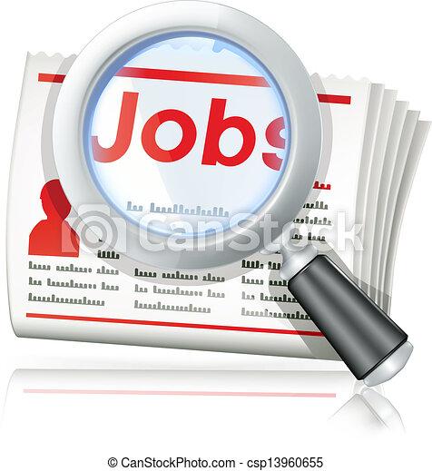 arbejde søgen - csp13960655