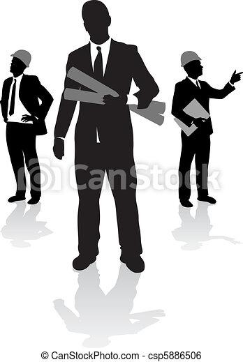 arbejdere, konstruktion - csp5886506