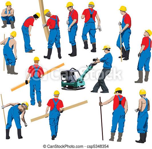 arbejdere, konstruktion - csp5348354