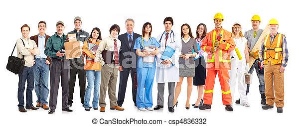 arbetare, folk - csp4836332