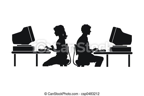 arbete, dator - csp0483212