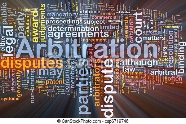 El concepto de arbitración de fondo brilla - csp6719748