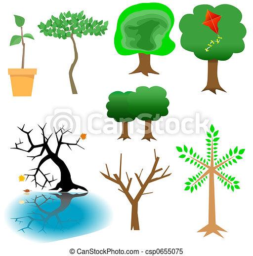 Arboreal Elements - Tree Icons - csp0655075